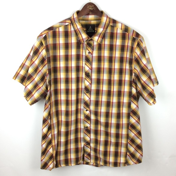 Prana Other - Prana Mens XL Shirt Sleeve Plaid Shirt